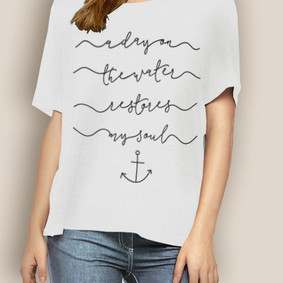 WaterGirl Boating Relaxed Tee-Restores my Soul
