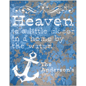Custom Heaven Metal Sign