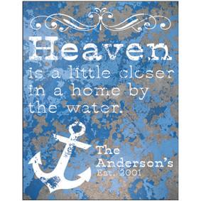 Custom Heaven Metal Sign