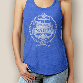 Boating Tank Top- WaterGirl  Get Nauti Signature Tri-Blend Racerback (More Color Choices)