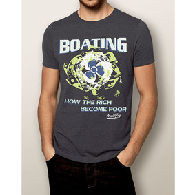 Men's Boating T-Shirt- NautiGuy Rich Become Poor