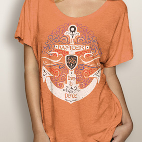WaterGirl Boating Dolman Tee-In Water There is Peace ( More Color Choices)