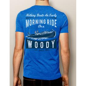 Men's Boating T-Shirt- NautiGuy Morning Woody