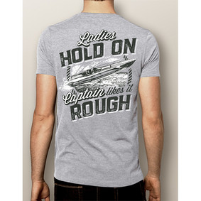 Men's Boating T-Shirt- NautiGuy Likes it Rough (More Color Choices)