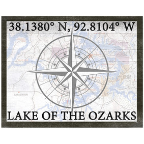 Custom Printed Coordinates of your Water Sign