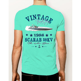 Men's Boating T-Shirt- NautiGuy Vintage Scarab (More Colors)