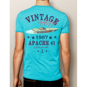 Men's Boating T-Shirt- NautiGuy Vintage 1987 Apache (More Colors)