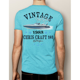 Men's Boating T-Shirt- NautiGuy Vintage 1983 Chris Craft 260 (More Colors)