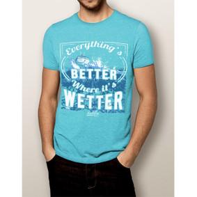 Men's Boating T-Shirt- NautiGuy Better When Wetter