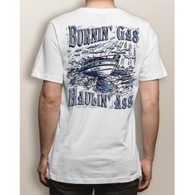 Men's Boating T-Shirt - NautiGuy Haulin & Burnin