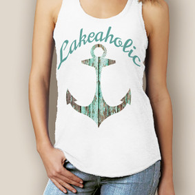 Boating Tank Top- WaterGirl  Lakeaholic Signature Tri-Blend Racerback