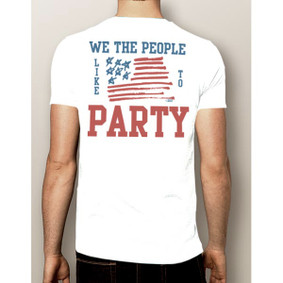 Men's Boating T-Shirt- 4th Of July We the People Shirt