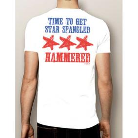 Men's Boating T-Shirt- 4th Of July Star Spangled Hammered Shirt