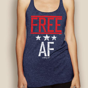 Boating Tank Top - WaterGirl FREE AF Lightweight Racerback