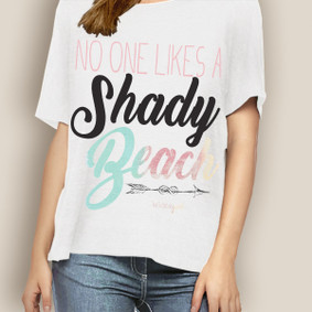 WaterGirl Boating Relaxed Tee-Shady Beach