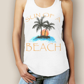 Boating Tank Top - WaterGirl Sun of a Beach Signature Racerback