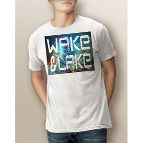 Guy's Wake & Lake Fractal Tie-Dyed- Comfort Colors Tee (More Color Choices)
