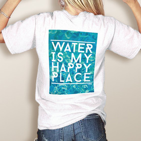 Comfort Colors Pocket Tee-WaterGirl Water Is My Happy Place (More Color Choices)