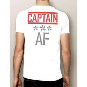 Men's Boating T-Shirt- Captain AF (More Color Choices)