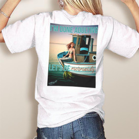 Comfort Colors Pocket Tee-WaterGirl Let's Be Mermaids