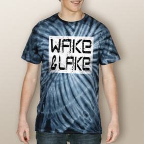 Guy's Wake & Lake Edgy Tie Dye Tee