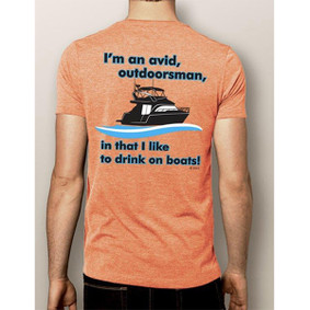 Men's Boating T-Shirt - NautiGuy ORIGINAL Avid Outdoorsman