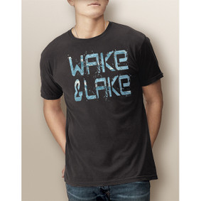 Guy's Wake & Lake Edgy Waves -Comfort Colors Tee (More Color Choices)