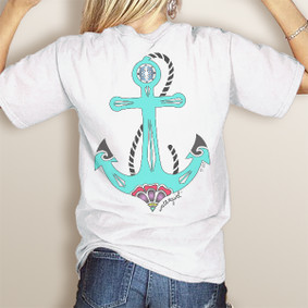 WaterGirl Day Anchor- Comfort Colors Pocket Tee (More Color Choices)