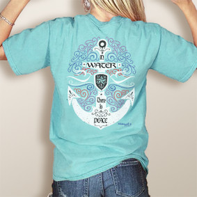 Comfort Colors Pocket Tee-WaterGirl Water Peace (More Color Choices)