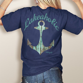 WaterGirl Lakeaholic- Comfort Colors Pocket Tee (More Color Choices)