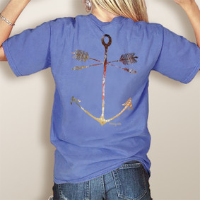 WaterGirl Tribe Anchor- Comfort Colors Pocket Tee (More Color Choices)