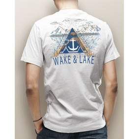 Guy's Wake & Lake Mountains and Lake Pocket Tee