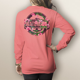 Watergirl  Rose - Comfort Colors Long Sleeve Pocket Tee (More Color Choices)