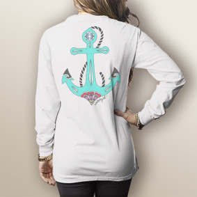 Watergirl Day Anchor - Comfort Colors Long Sleeve Pocket Tee (More Color Choices)