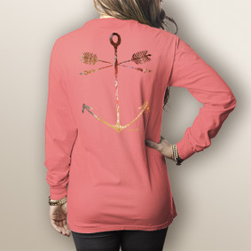 Watergirl Tribe Anchor- Comfort Colors Long Sleeve Pocket Tee (More Color Choices)