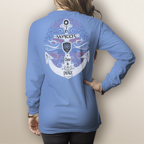 Watergirl Water Peace- Comfort Colors Long Sleeve Pocket Tee (More Color Choices)