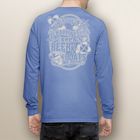 Men's Boating Long Sleeve with Pocket  - Beer & Boats  (More Color Choices)