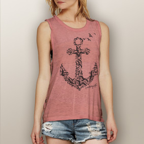 Seagulls Anchor -  Muscle Tank (more color choices)