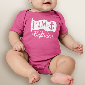 I am the Captain Baby Girl Bodysuit