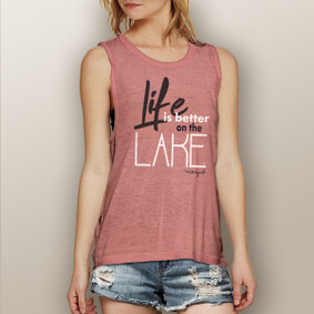 Life is Better on the Lake -  Muscle Tank (more color choices)