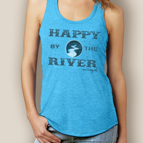 Happy By The River Signature Tri-Blend Racerback (More Color Choices)