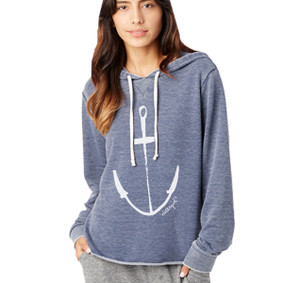 Women's Hoodie - WaterGirl Painted Anchor