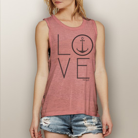 Love Anchor -  Muscle Tank (more color choices)