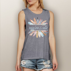 Peace, Love & Water -  Muscle Tank (more color choices)