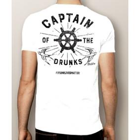 Men's Boating T-Shirt- Captain of The Drunks #drunklivesmatter (More Color Choices)