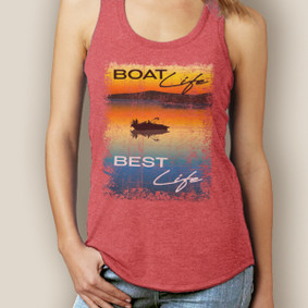 Boat Life Best Life Signature Tri-Blend Racerback (More Color Choices)