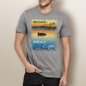 Men's Boating T-Shirt - Boat Life. Best Life.