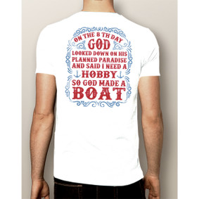 Men's Boating T-Shirt - God Made Boat (More Color Choices)