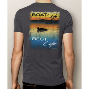 Men's Boating T-Shirt- Boat Life Best Life (More Color Choices)