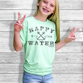 Youth Short- Sleeve- Happy By The Water